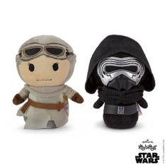 Hallmark Itty Bittys Collector Enamel Pin Set Star Wars Kylo BB-8 Rey Troopr NEW
