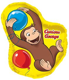 Get exciting with Curious George Jumbo Foil Balloon. Amazing Range of Curious George Foil Balloons for Birthday at PartyBell. 2nd Birthday Parties, Birthday Balloons, Birthday Party Decorations, Party Themes, Party Ideas, Birthday Bash, Curious George Party, Curious George Birthday, Mylar Balloons