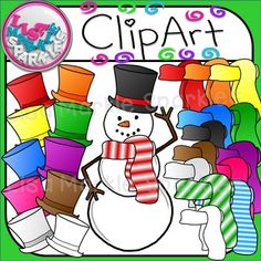 Build a Snowman Clipart for Christmas and Winter