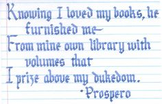 Prospero Quote - The Tempest - W. Shakespeare - by ~inchoate on deviantART