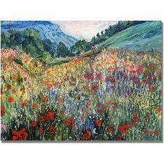 Trademark Fine Art Field of Wild Flowers Canvas Art, Size: 30 x 47, Multicolor