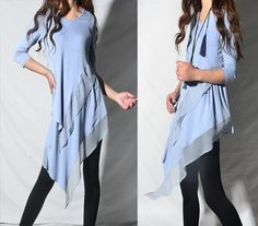 Leaves in breeze  zen layered tunic dress / by idea2lifestyle