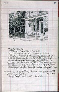 Edward Hopper: Artist's ledger—Book III