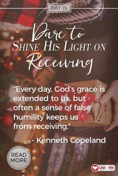 Shine His Light with KCM's 25 Days of Christmas! Check it out...daily devotion and dare from Kenneth and Gloria Copeland, plus lots of FREE gifts. Learn more here: www.kcm.org/25days
