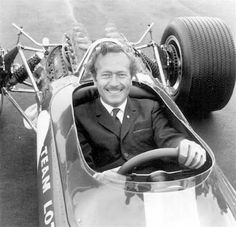 Colin Chapman in the Lotus 49