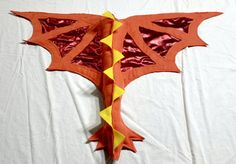Dragon Wings Costume Fire Red Orange Yellow Kids Ages 1 to Adult Costume Feu, Ash Costume, Dragon Costume, Costume Dress, Costumes For Teens, Diy Costumes, Halloween Costumes, Halloween Parties, Halloween Stuff
