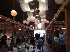 White globe lanterns and drapes... beautiful Saturday wedding! | SocialTables.com | Event Planning Software