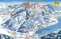 Gerlitzen - Mappa delle piste da sci a Gerlitzen Mount Everest, City Photo, Sci, Mountains, Nature, Travel, Naturaleza, Viajes, Destinations