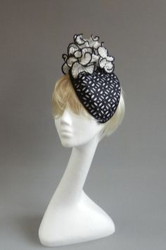 lace plisse BY MARIA MARCUS #millinery #hats #HatAcademy