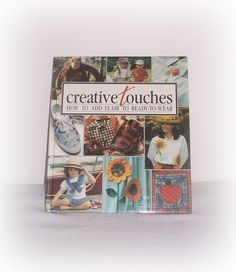 "Leisure Arts Book ""Creative Touches -How to Add Flair to Ready-to-Wear"" Memories in the Making Series by Anne Van Wagner Childs,Craft Supply by SheCollectsICreate on Etsy"