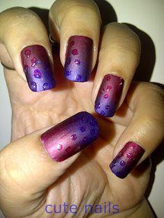 dew drops nail art  @ http://www.stylecraze.com/photos/dew-drops-nail-art-2/