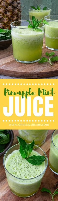 Brazilian Drink, Pineapple Mint, Passion Fruit Juice, Easy To Cook Meals, Healthy Dinner Recipes, Sweets Recipes, Drink Recipes, Delicious Recipes, Yummy Food