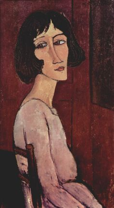 """Portrait of Margarita"" do pintor italiano Amedeo Modigliani. Amedeo Modigliani, Modigliani Paintings, Paul Cezanne, Italian Painters, Italian Artist, Oil Canvas, Canvas Art, Ouvrages D'art, Poster Prints"