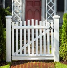 How to Build a Garden Gate: Get two stout posts and some stock cedar, and you've got the makings of a quaint entrance to any path