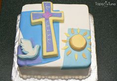 Confirmation cakes are in season so here are a few ideas!!