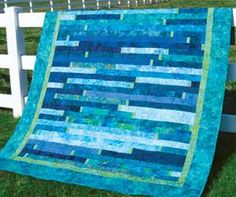 Blue Lagoon would look yummers in a quilt like this