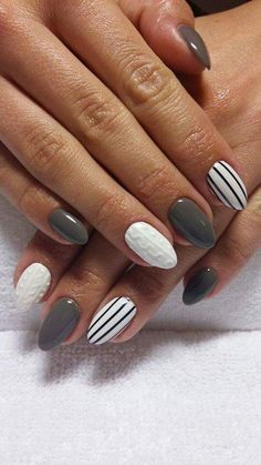 With winter quickly approaching, we can already imagine sitting by the fireplace and sipping hot apple cider—while holding the cup with our beautiful cable knit nails, of course.Check out some of the coziest cable knit nail photos below。 Beautiful Nail Art, Gorgeous Nails, Holiday Nails, Christmas Nails, Acrylic Nail Designs, Nail Art Designs, Cute Nails, Pretty Nails, Hair And Nails
