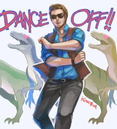 Owen Grady and the Raptor Family Dance Off.