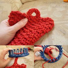 loom knit Button loop