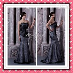 Wholesale Real Image Beauty Sexy Mermaid Black Lace Gorgeous Formal Evening Dresses 2012 Prom Dresses XYY-020, $128.62-167.9/Piece | DHgate