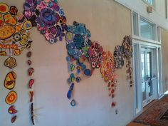 "Installation by Middle School Art winner Queens Lake Middle School at ""An Occasion for the Arts"" in Williamsburg, VA"