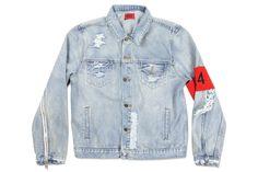 424 Distressed Denim Jacket - Light Indigo