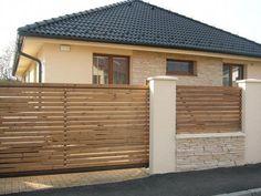 20 Incredible Inspiring ideas For - Zaun Ideen Front Gate Design, House Gate Design, Village House Design, Door Gate Design, Wall Exterior, Exterior House Colors, Exterior Design, Modern Fence Design, Patio Design