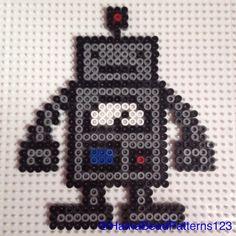 Hama Bead Robot by hamabeadpatterns123