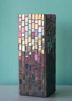 Glitter and Glam  Tall Vase by HalleyDawn on Etsy, $78.00