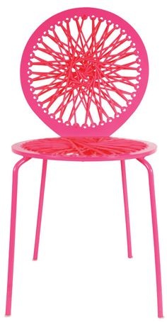 Stretch Chair - designed and built by a local brooklyn designer, using latex, bungee and rope for their bright colors and wondrous elasticity to bring some of the exuberance of the fashion world into her designs.