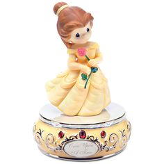 ''Once Upon a Time'' Musical Belle Figurine by Precious Moments | Figurines & Keepsakes | Disney Store
