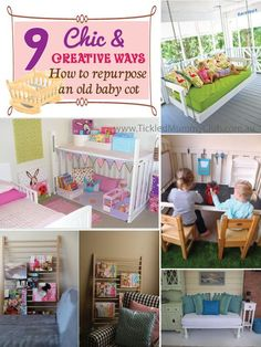 {Sage N Frugal Organising Tip} Has your little angel grown up to a toddler and he or she no more needs the cot? From cool kid's play table and chalkboards to pretty play-picnic-wagons, these creative ideas for repurposing baby cots are must-sees. #Repurposeoldcot #Organisingtips #TickledMummyClub