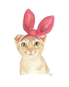 Cat with bunny ears
