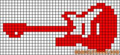 Friendship bracelet patterns page Learn how to make friendship bracelets of threads or yarn, and start tying today! Cross Stitch Music, Cross Stitch Boards, Cross Stitch Needles, Cute Cross Stitch, Cross Stitch Designs, Cross Stitch Patterns, Guitar Patterns, Loom Patterns, Graph Paper Art