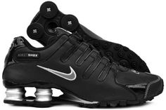 Nike Shox NZ Womens Running Shoes Black Dark Grey-Metallic Silver-Metallic  Silver 314561-005-8.5 77061a5cc