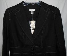 NEW -ANN TAYLOR LOFT Petites Sz 8P Black Denim Look Lined Blazer/Jacket  NWT $89 #AnnTaylorLOFT #Blazer - http://stores.ebay.com/vickysclothingandmore