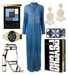 """Denim addicted"" by jasminsangalyan on Polyvore featuring Equipment, Tom Ford, Olympia Le-Tan, Yves Saint Laurent, Michael Kors and Humble Chic"