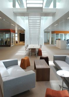 Hotdesking at Microsofts Amsterdam Headquarters-  for last interior designed by