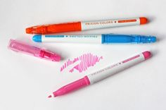 check out these erasable felt tip markers. Did you know there's been a revolution in erasable pen technology? These erasers use friction to heat up the thermo-sensitive ink and make it disappear.
