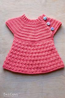 Cute crochet pattern for a sweater dress