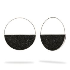 Konzuko, concrete earrings