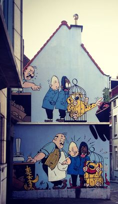 Bruxelles, comics books walls