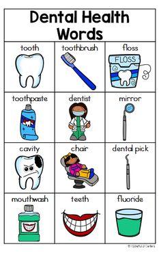 Dental Health Writing Center Kit for Pre-K and Kindergarten.