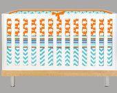 Modern Baby Gray and Orange (Modern Custom Crib Set). $265.00, via Etsy.