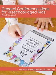 Moms Have Questions Too General Conference Activities for Preschoolers