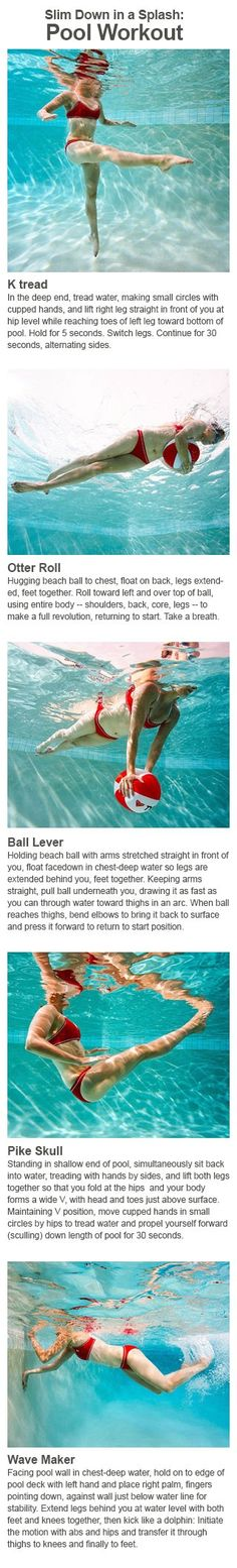 Pool workout to tone and firm, and slim down in the pool