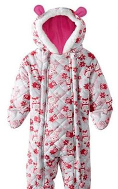 fa8832d15 Pink Platinum Baby Girls Owl Microfleece Quilted Puffer Snow Pram Suit  Bunting Pink 12 Months -- Details can be found by clicking on the image.