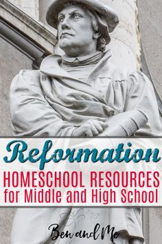 Reformation Homeschool Resources for Middle and High School Here are a few Reformation homeschool resources you can use to learn more about Reformation Day and the Protestant reformers such as John Wycliffe and Martin Luther. These resources will work wel Reformation Day, Protestant Reformation, Reformation History, Homeschool High School, Homeschool Curriculum, Bible In English, Martin Luther Reformation, Family Bible Study, How To Start Homeschooling