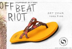 Set your toes free with solethread flipflop TODAY.