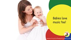Have you ever noticed how we instinctively communicate with babies in a 'sing-song' way? Several studies have shown that babies respond more to a singing voice, than to a normal talking voice. 'While spoken language can take more than a year to develop, music is one of the earliest things parents have with their children…when …